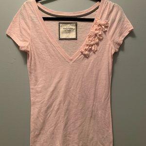 Pink Abercrombie tee. M